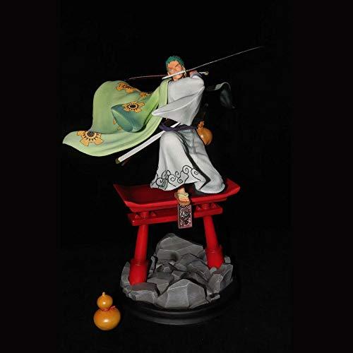 QIYHB Una Pieza Roronoa Zoro Tres Espadas Estilo Kimono Sauron wano país Pirata Cazador de PVC Material Anime Figura Modelo Caja de Regalo de Juguete en Caja Estatua