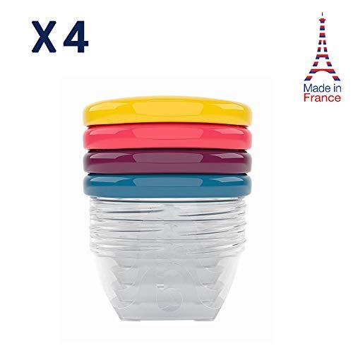 Babymoov Babybols Aufbewahrungsbehälter für Babynahrung, hermetischer Drehverschluss, 4-teilig, 120 ml