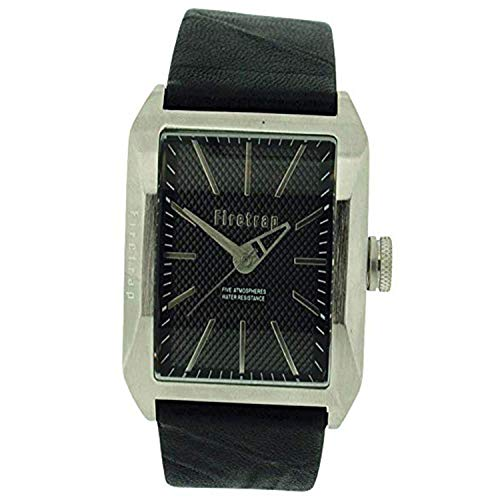 Firetrap orologio analogico uomo quadrante nero griffato cinturino pelle nero FT1061S