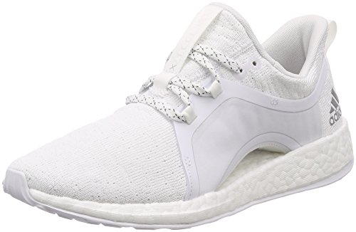 adidas Damen Pureboost X Fitnessschuhe, Weiß (Ftwbla/Plamet/Negbas 000), 42 EU