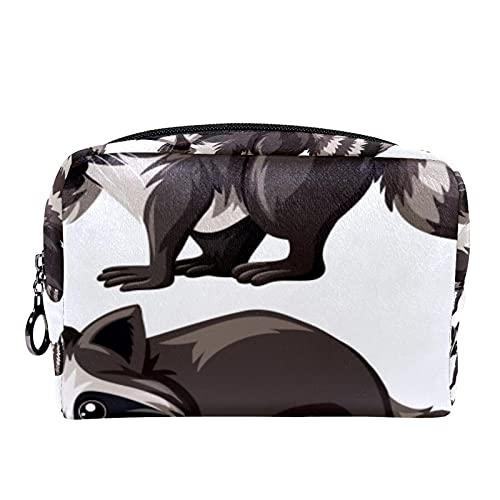 Pequeña bolsa de maquillaje para monedero, bolsa de maquillaje, bolsa de maquillaje, conejo, vaca caballo gato