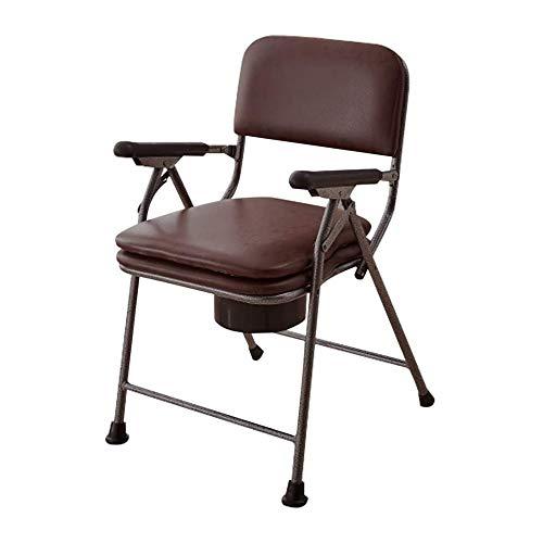 XTZ-YGBG Komfortables Badezimmer WC-Stuhl, Nacht WC Multifunktionale Sofa-Stuhl für ältere Menschen, mit Eimer/Abdeckung/Armlehne/Rückenlehne abwischbar, faltbar