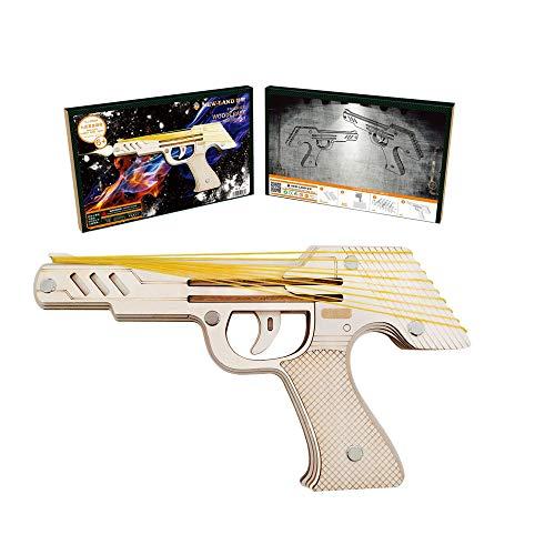 HFXZ2018 Gun Modellbausätze, DIY Holz-Gewehr mit Gummibänder, Holz BAU 3D-Puzzle Spielzeug geeignet für Jungen, Mädchen, Teenager, Erwachsene, Kinder, Grown-ups