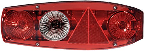 HELLA 2VA 341 419-011 Heckleuchte - Caraluna - P21/5W/P21W/PY21W - 12V - Lichtscheibenfarbe: rot - Einbau - Einbauort: links