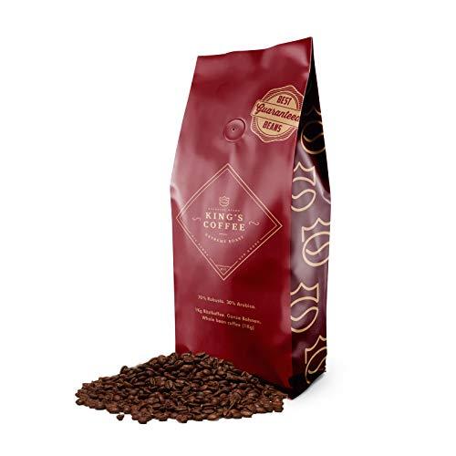 KING'S COFFEE – EXTREME ROAST | 1KG | Extra Starke Premium Kaffeebohnen | Säurearm | kleine Chargen-Röstung aus Italien | ganze Espresso-Bohnen für Vollautomaten & Siebträger