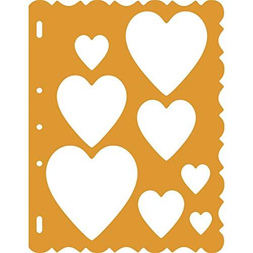 Fiskars Shape Template Corazones, Plantilla para crear corazones, 1003827