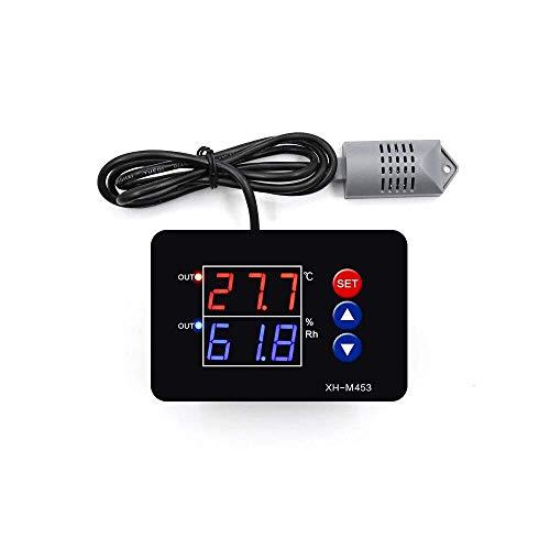 DollaTek XH-m453 12-24V pantalla digital dual temperatura controlador de humedad termostato humedad termostato inteligente control de incubadora