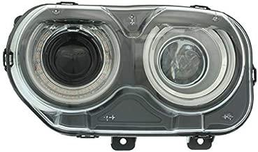 Partomotive For 15-19 Challenger Front Headlight Headlamp Halogen Head Lamp w/Bulbs Driver Side