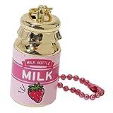 おみくじ キーホルダー[牛乳瓶型]キーリング/いちご クラックス プレゼント おもしろZAKKA グッズ 通販