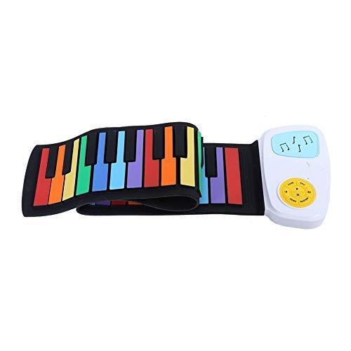 Fockety Piano Enrollable, Juguete de Silicona para música...