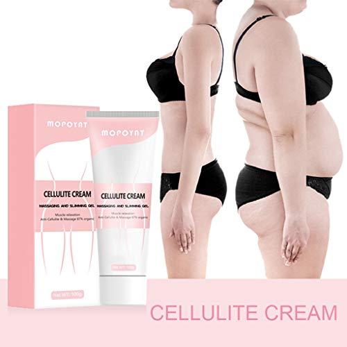Takkar Crème Amincissante Sans Cellulite 100g - Crème Perte de Poids - Crème Brûleuse de Graisse Corporelle - Crème de Massage Anti-Cellulite Slim pour Modeler la Taille, l'Abdomen et les Fesses