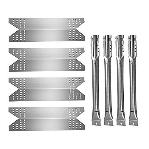 Boloda Kit de piezas de repuesto para parrilla, placa de tienda de campaña de acero inoxidable, quemador de tubo cruzado para Nexgrill 720-0778A, 720-0691A, 730-0778C, Member's Mark SAMS 720-0778C, paquete de 4