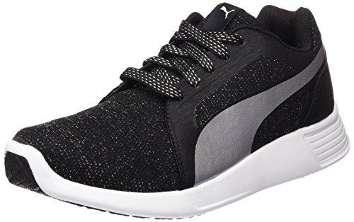 Puma Damen ST Trainer Evo Gleam Sneaker, Schwarz Black Silver 03, 36 EU