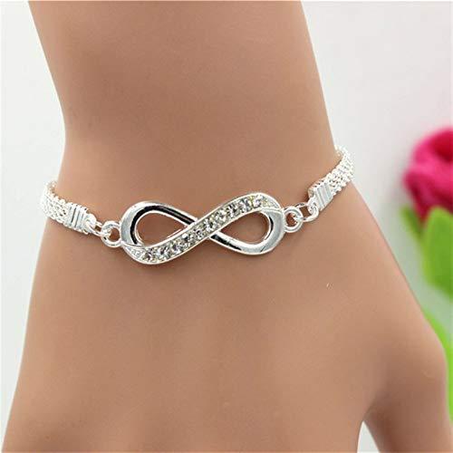efsdhg Pulsera de mujer con diamantes de imitación, pulsera de infinito para hombre y mujer.