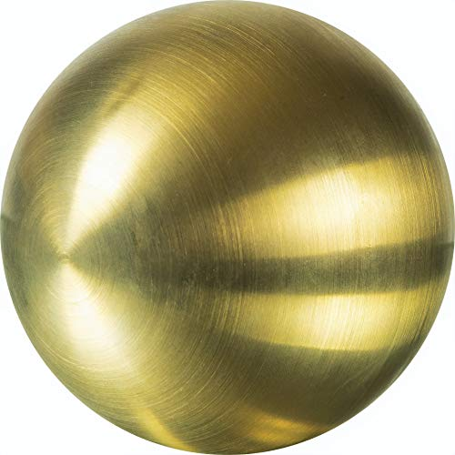 Edelstahlkugeln Bunte Edelstahl- Kugel matt gebürstet ca. 60 mm / 6 cm, Dekokugeln FARBIG (Gold 39)