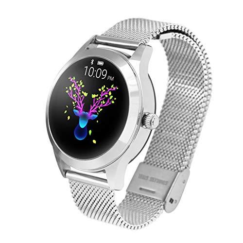 WEINANA Reloj Inteligente para Mujer, Resistente Al Agua, IP68, Monitor De Ritmo Cardíaco, Pulsera Inteligente, Rastreador De Ejercicios, Reloj Inteligente Deportivo(Color:Segundo)