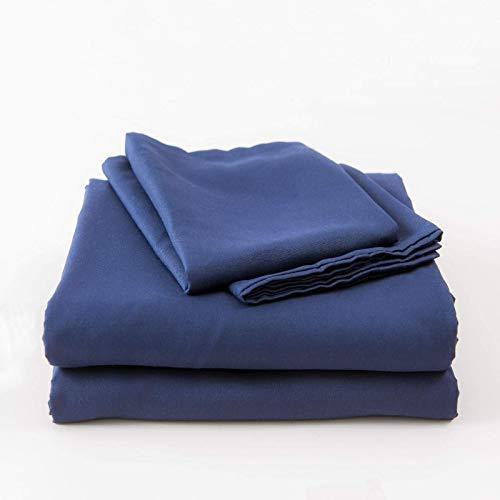 Sábana de cama de cuatro piezas Funda protectora antideslizante (sábanas, sábana, funda de almohada)
