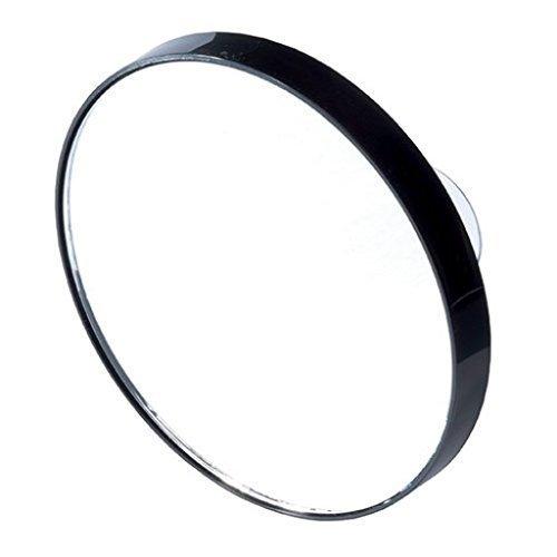 petit Miroir grossissant noir à ventouses X10 Diam 8,5cm sac main,salle de bain