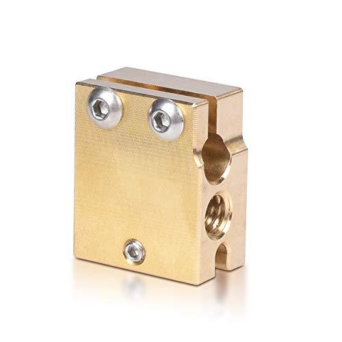 YIJIABINGRU Brass PT100 V6 Volcán bloque de calentador de silicona de alta temperatura para boquilla V6 Hotend 3D partes de impresora J-head MK8