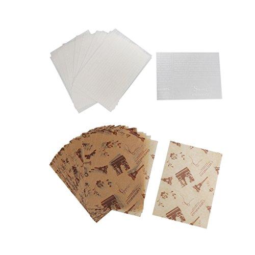 VANKOA 100 Stück Wachspapier Lebensmittelpapier farbig Bedruckte Bonbons Wachs Backen Fett Verpackung Papier für selbstgemachte DIY Bondies
