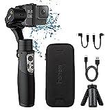Hohem Gopro Gimbal Stabilizer 3-Axis Action Camera Gimbal Stabilizer for Gopro Hero 8/7/6/5/4/3 DJI OSMO Action Insta360 One R Sony RX0 SJ YI Cam Osmo Wireless Control Splash Proof, Hohem iSteady Pro3