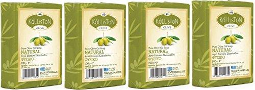 Sgouromallis natural care -  4x Olivenöl Seife