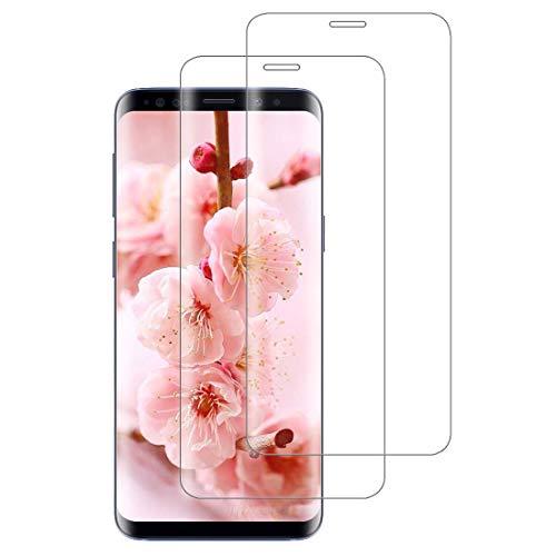XSWO 2 Pezzi Vetro Temperato per Galaxy S8, Pellicola Protettiva Vetro Samsung Galaxy S8 [3D Copertura Completa] [Alta Sensibilità] [Anti-Graffi] [Senza Bolle] Protezione Schermo S8
