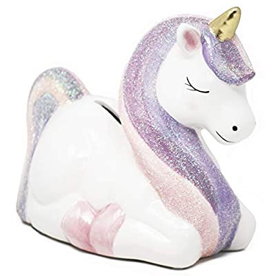 Hapinest Ceramic Unicorn Piggy Bank Gifts for Girls