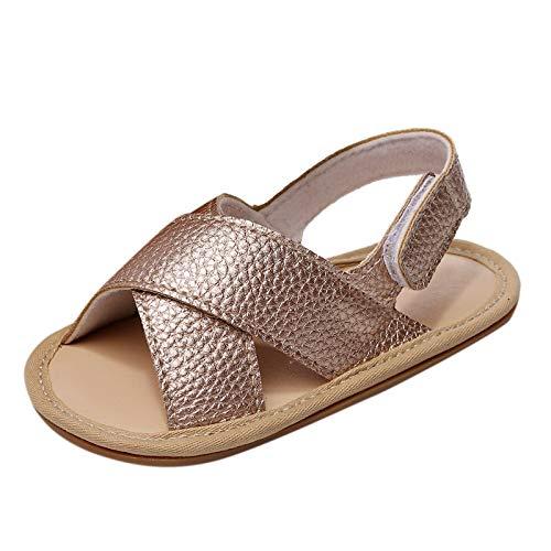 YWLINK Sandalias Suaves De Bebé Sandalias Cruzadas con Sandalias Zapatos Casuales con De Dibujos Animados Suela De Goma Zapatillas De Deporte Lindo Zapatos De Primer Paso