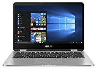 "Asus Flip TP401NA-BZ068T Notebook, Display LCD da 14"" HD Touchscreen, Processore Intel Celeron N3350, RAM dda 4 GB LPDDR3, eMMC da 64 GB"