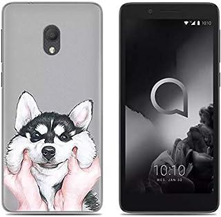 YZKJ Fodral för Alcatel 1C 2019 skydd mjuk mobilväska semi-trasparent TPU mobiltelefonfodral silikon väska skal skyddsfodr...