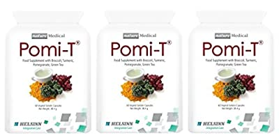 Pomi-T Polyphenol Food Supplement 60 Capsules (Pack of 3 - 180 Capsules) from POMI-T