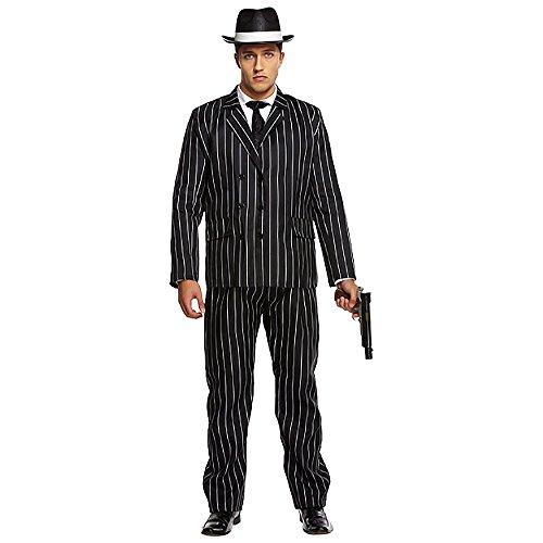 Costume de gangster pour adulte années 1920 Gatsby Bugsy Malone Déguisement XL (STD)