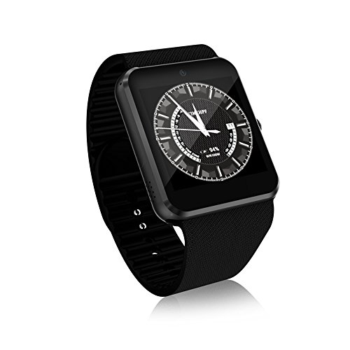 YANGFH Smart Watch QW09 3G Anruf Mobile Payment Android System WiFi Mode Foto Schritte Bewegung Smartwatch (Color : Black)