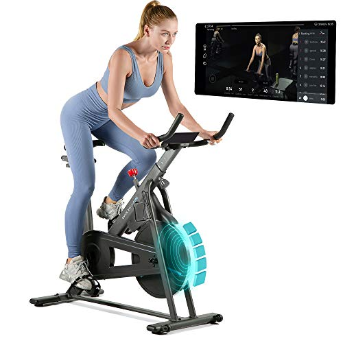 OVICX Bluetooth Exercise Bike Stationary Bike with App Magnetic Stationary Bikes for Home Workout Indoor Cycling Bike