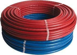 Material de conexión, tubo flexible, aislado ALU-PEX multicapa, 16 x 2 mm, rollo de 25 m (azul)
