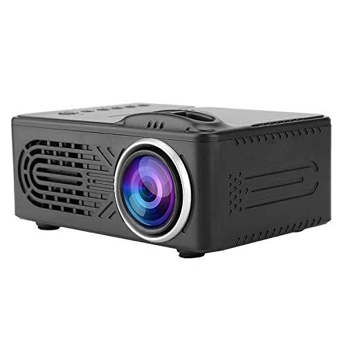 Home 814 Miniature High-Definition Projector,Miniature Portable LED Mini Handheld Projection Built-in Stereo Hi-Fi Speaker 1080p USB/AV/VGA/HDMI/SD Multimedia Port