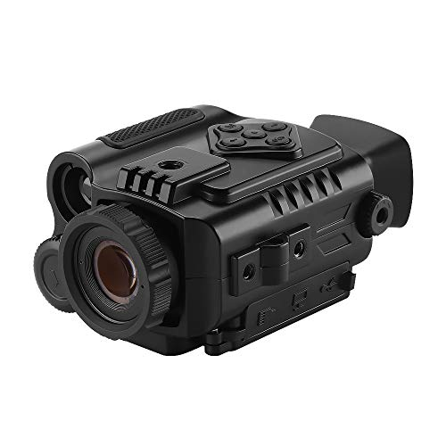 BOBLOV P4 Night Vision Monocular with 8GB Card 5X Digital Zoom Infrared Portable Night Vision Scope 200Yards Visible 1.5inch Screens for Hunting Forest Observe Wildlife Secenery (Black) (Black)