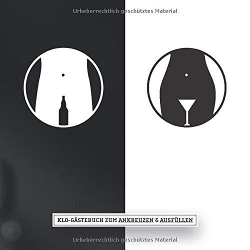 Klo-Gästebuch zum ankreuzen & ausfüllen: WC Klobuch für Gäste als Eintragbuch & Geschenkidee zur Haus & Ferienwohnung Einweihung I Kloordnung I ... I 21x21 cm I Schwarz Weiß I Bier Cocktail