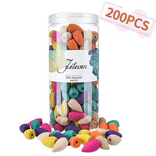 Jeteven 200pcs Backflow Incense Cones...