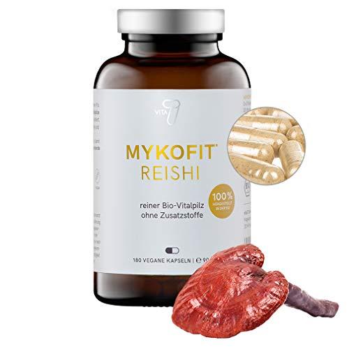 MYKOFIT® BIO REISHI (Ganoderma lucidum) 180 Kapseln - aus europäischem Anbau - 29% bioaktive Polysaccharide - LABORGEPRÜFT - ohne Zusatzstoffe