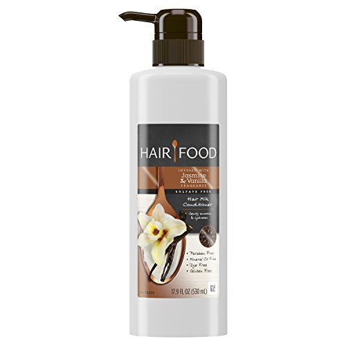 Hair Food Sulfate Free Hair Milk Conditioner Infused with Jasmine & Vanilla Fragrance, 17.9 fl oz