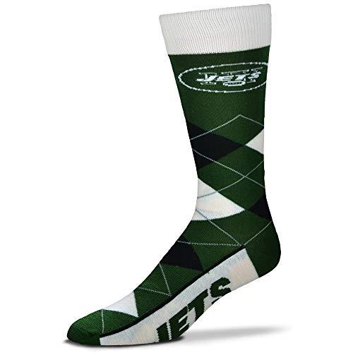For Bare Feet - NFL Argyle Herren Crew Socken - New York Jets