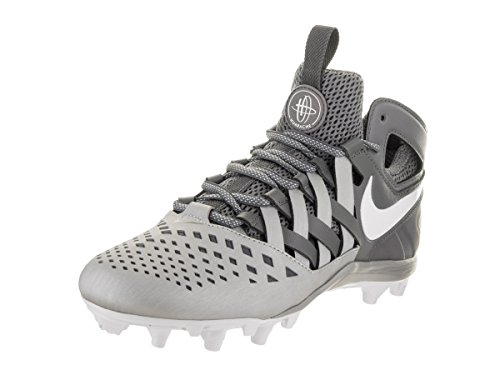 Nike Men's Huarache V Lax Grey Faux Leather Cleated Shoe 12