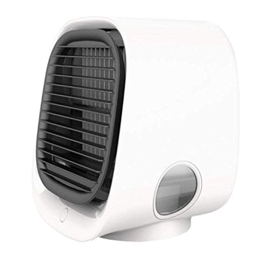 Portable Air Cooler,4in1 Usb Mini Fan Air Conditioner,Personal Space Air Cooling Fan,Negative Ion Refrigeration,With 300ml Water Tank, Night Light, 3 Wind Speed,Perfect For Home, Office Or Travel