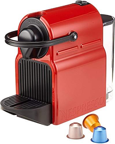 Krups XN1005 Inissia Nespresso - Cafetera (19 bar, 0,7 L, 1260 W), color rojo