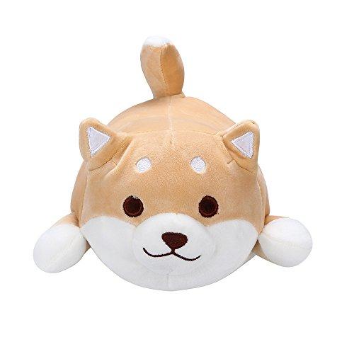 mxjeeio Anime Shiba Inu Plüsch gefüllt Soft Kissen Puppe Cartoon Doggo niedlichen Stofftier Sofakissen, Plüschspielzeug