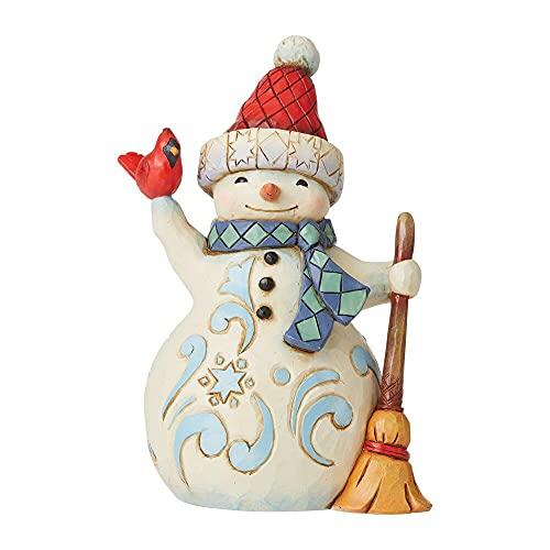 Enesco Jim Shore Heartwood Creek - Figura de muñeco de nieve con diseño de cardenal