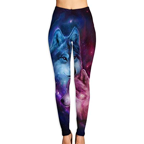 Abusss Yoga Fitness Spandex Palestra Leggings Sport Opaco, Womens Leggings Wolf Love Ice Fire Beautiful High Waist Yoga Pants
