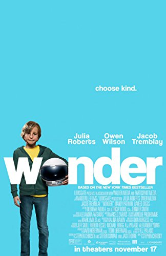 WONDER MOVIE POSTER 1 Sided ORIGINAL FINAL 27x40 JACOB TREMBLAY JULIA ROBERTS